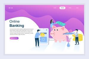 Online bankieren Website Banner vector