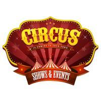 Carnaval Circusbanner met grote bovenkant