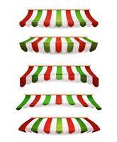 Italiaanse gestreepte voortenten voor Market Store vector