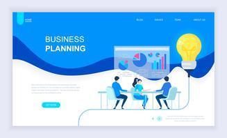 Zakelijke planning webbanner vector