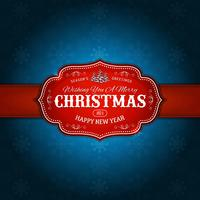 vintage-merry-christmas-vakantie-sneeuwvlokken-rood-blauw