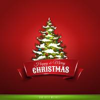 Kerst wenskaart vector