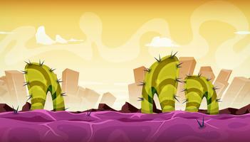 Naadloos fantasie buitenaards landschap voor spel Ui