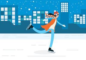 Mensen schaatsen vector
