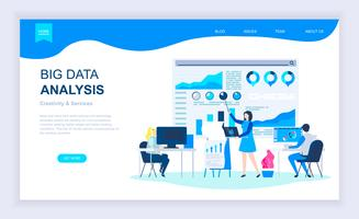 Big Data-analyse webbanner vector
