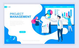 project management webbanner vector