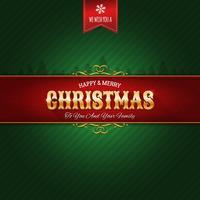 Retro Kerst Ornament Achtergrond vector