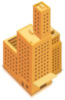 Isometrische zakelijke grote gebouw vector