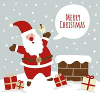 Leuke Kerstmisscène met Kerstman vector
