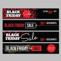 zwarte vrijdag collectie verkoop banner vector