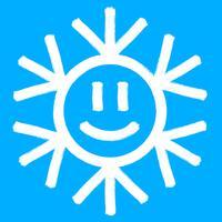 Sneeuwvloksymbool, Kerstmis sneeuw pictogram vector