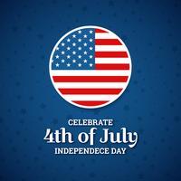 Ontwerp van de onafhankelijkheidsdag, vakantie in de Verenigde Staten van Amerika,