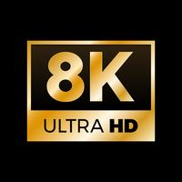 4K Ultra HD-symbool vector