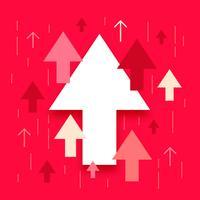 Pijlen omhoog, verhoging en succes bedrijfsillustratie