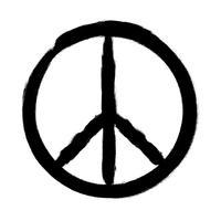 Vredessymbool, Hand getrokken borstel, illustratie