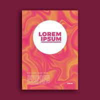 Omslagpagina-ontwerp, creatieve vloeibare achtergrond