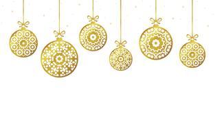 De ornamenten van Kerstmisballen, Kerstmisdecoratie, illustratie