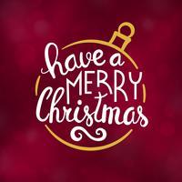 Merry Christmas typografie ontwerp vectorillustratie vector