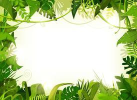 Jungle tropische landschap achtergrond vector