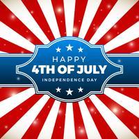 Onafhankelijkheidsdag ontwerp. Vakantie in de Verenigde Staten van Amerika