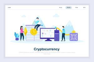 Crypto valuta moderne platte ontwerpconcept vector