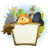 wilde dieren dierentuin hout teken