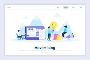 Adverteren en promo modern plat ontwerpconcept vector