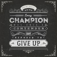 Zaken en Sport Motivatie Citaat Poster vector