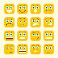 Emoticons instellen vector
