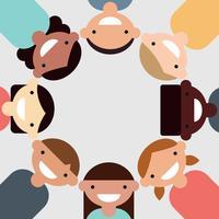 Multiculturele kinderen vector