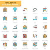 Hoteldiensten Icon Set vector