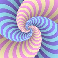 Pastel swirl circulaire beweging illusie achtergrond