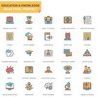 Onderwijs en kennis Icon Set vector