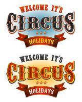 circusvakanties welkomstbanners vector