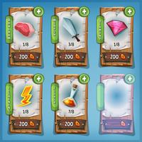 Booster en middelen Wood Panels voor Ui Game