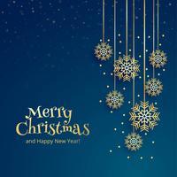 De mooie vrolijke achtergrond van de Kerstmis decoratieve sneeuwvlok vector