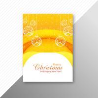Kerstbal mooie brochure ontwerp vector