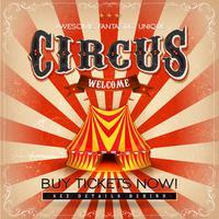 Vintage Grunge vierkante Circus Poster