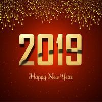 Mooi Gelukkig Nieuwjaar 2019 met viering kleurrijke backgrou vector