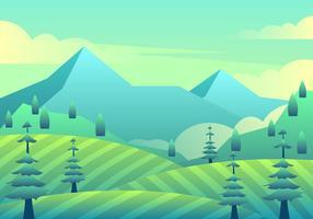 Lente landschap Vector