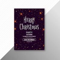 Merry christmas celebration kaart brochure sjabloon achtergrond vector