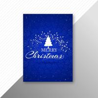 Het elegante ontwerp van de het malplaatjebrochure van vierings vrolijke Kerstmis vector