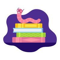 Bookworm vectorillustratie vector