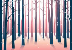 Winter bos bossen achtergrond vector
