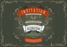 Vintage uitnodiging poster achtergrond vector
