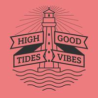 Unieke High Tides Good Vibes belettering vectoren