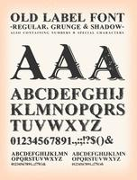 Vintage oude label westerse lettertype