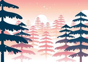 Winter boslandschap vector