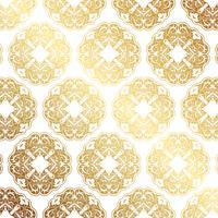 Decoratieve gouden patroonachtergrond vector