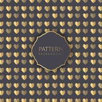 Gouden harten patroon achtergrond vector